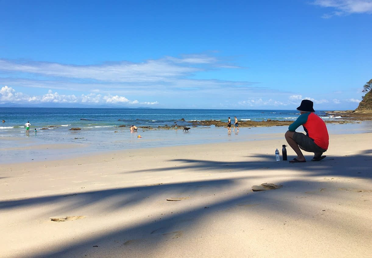 Man at beach Playa Blanca